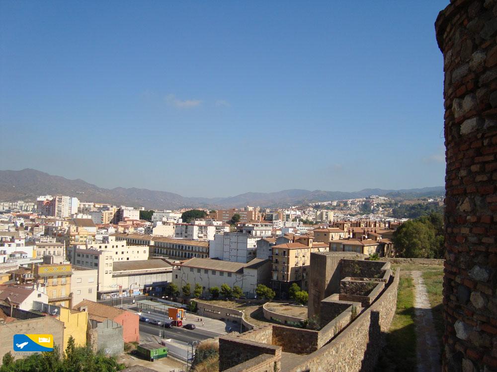 Veduta dal Castello di Gibralfaro a Malaga