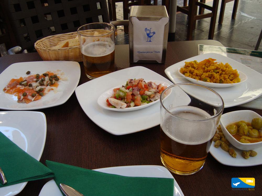 Tapas in centro città a Malaga