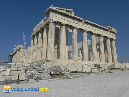 Partenone di Atene parte posteriore