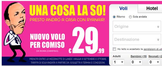 Ryanair pubblicità con Alfano
