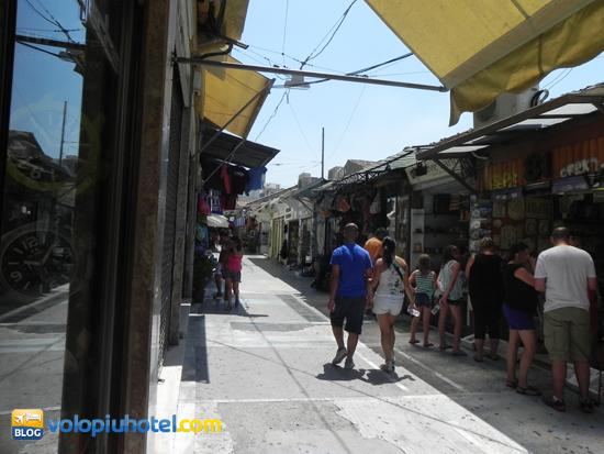 Vie dei negozi ad Atene