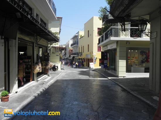Una via del centro di Atene
