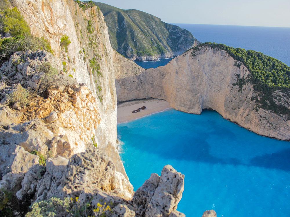 Baia del Relitto a Zante in Grecia