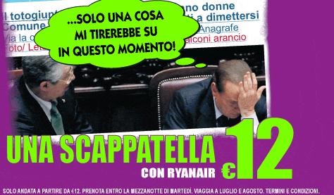 La promozione di Ryanair con Silvio Berlusconi