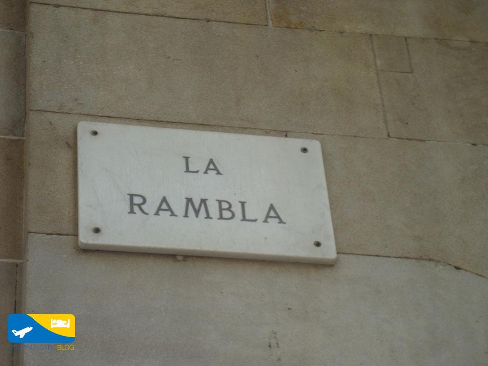 Rambla a Barcellona