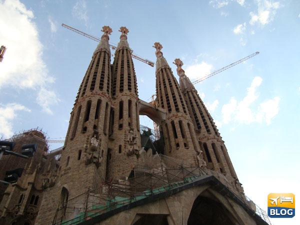 Sagrada Familia in costruzione a Barcellona