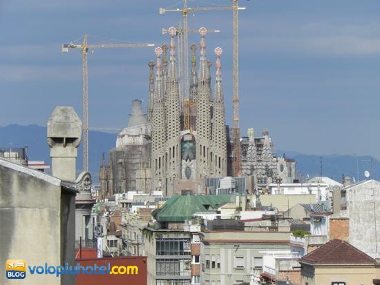 Sagrata Familia veduta dall'alto