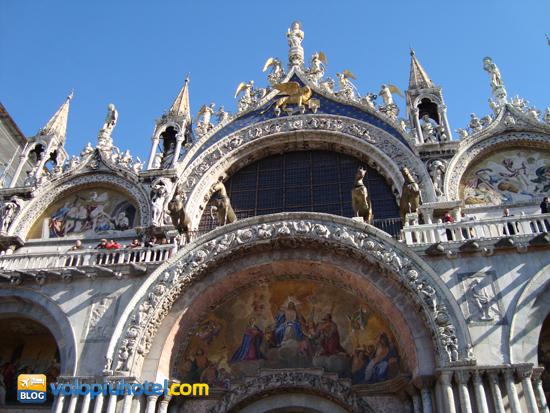 Facciata della Basilica di San Marco a Venezia