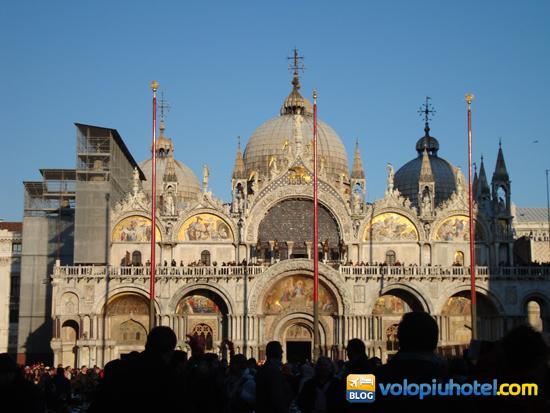 La basilica durante il Carnevale di Venezia
