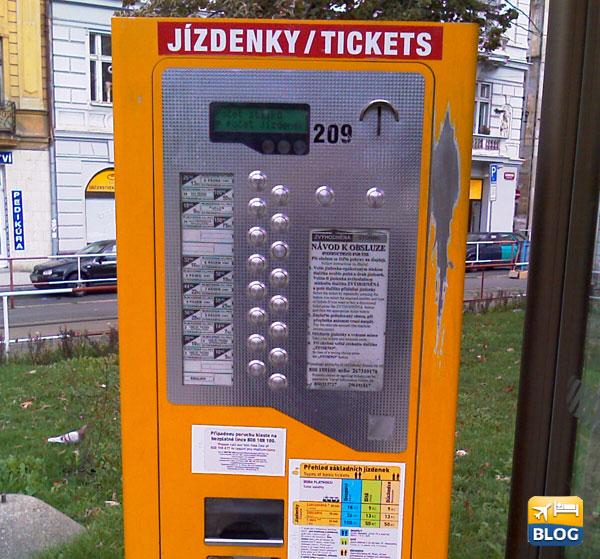 Macchinetta biglietti per bus e tram Praga