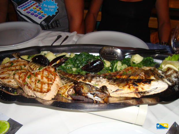 Pesce cucinato a Brac in Croazia