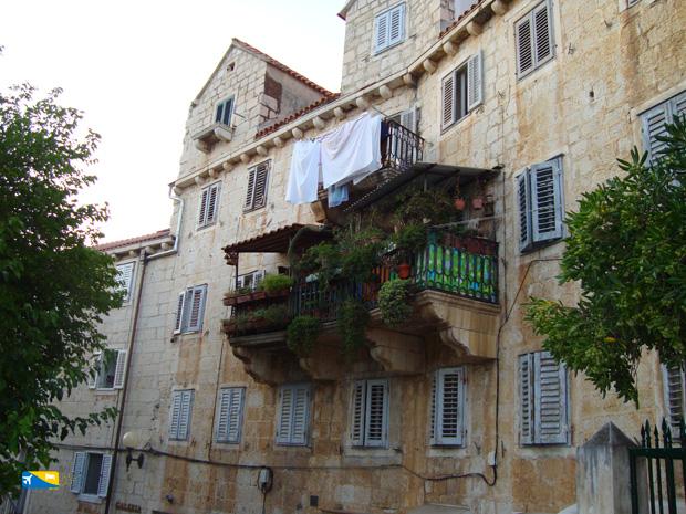 Balcone a Brac in Croazia