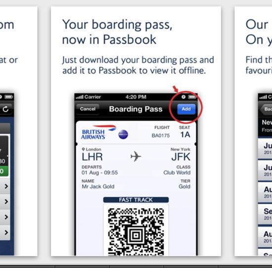 British Airwais la app permette di aggiungere biglietti su Passbook