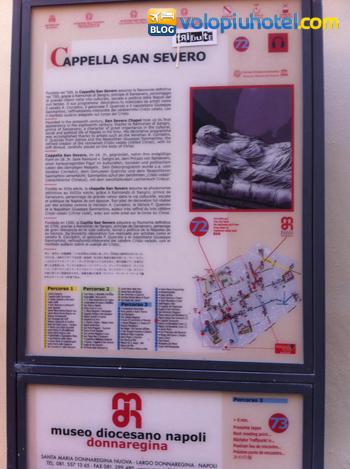 Tabella informativa della Cappella di San Severo a Napoli