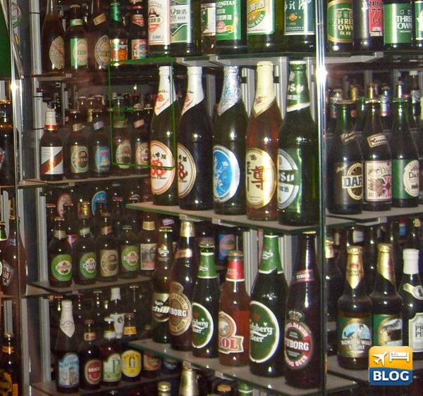 La stanza delle bottiglie alla fabbrica della birra carlsberg