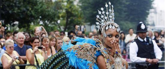 Immagini della parata del carnevale di Notting Hill