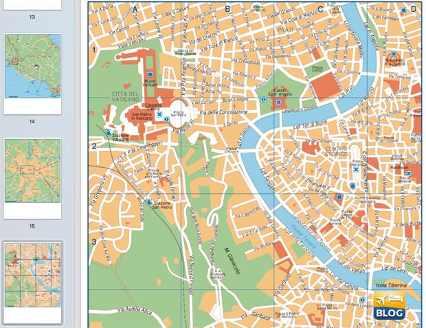 Cartina Di Roma Centro Con Monumenti.Guida E Cartina Di Roma Da Stampare Gratis Volopiuhotel Blog