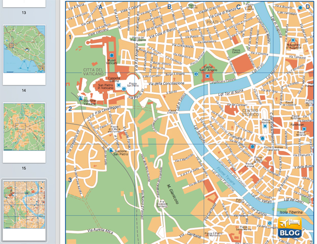 Cartina di Roma centro