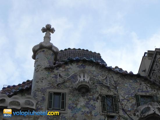 Il tetto di Casa Batllò a Barcellona