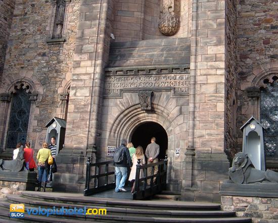 Una delle entrate del Castello di Edimburgo