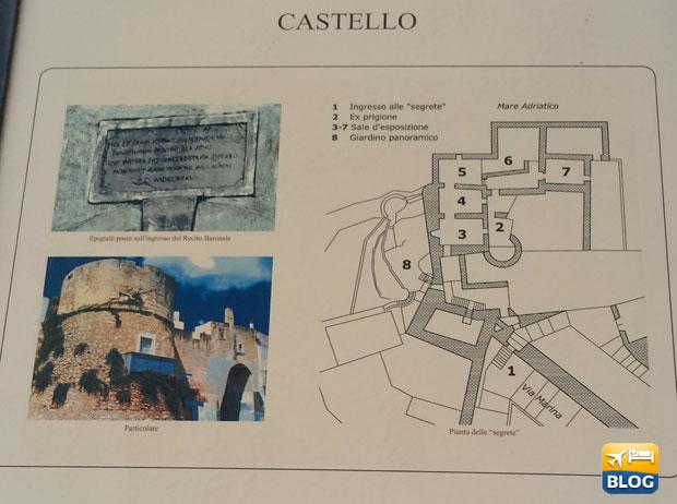 Mappa del Castello di Peschici