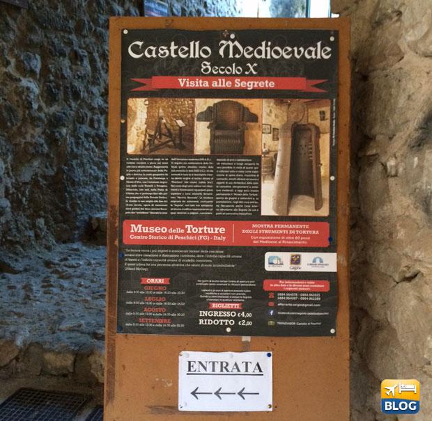 Entrata al Castello di Peschici