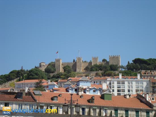 Il castello di Sao Jorge a Lisbona