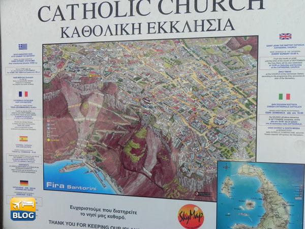 Il cartello prima di entrare nella cattedrale