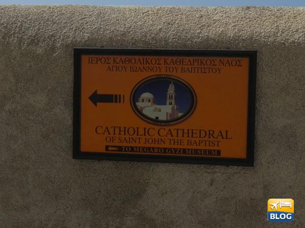 Le indicazioni per entrare nella Cattedrale