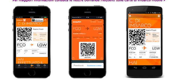 Mobile Check-in Easyjet