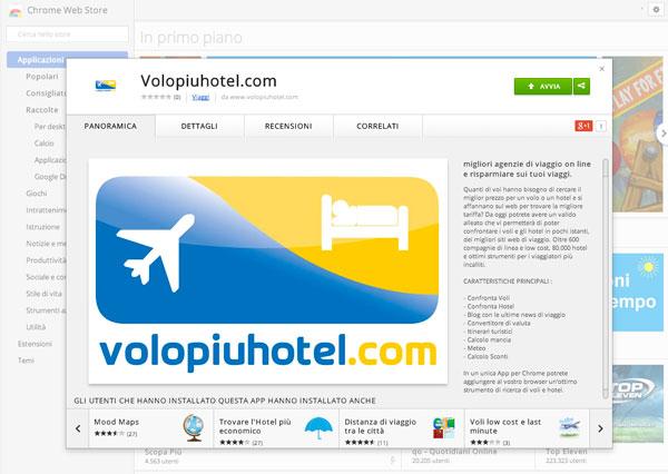 App di Volopiuhotel.com su Chrome Web Store