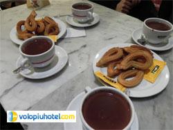 Churros e Cioccolata calda