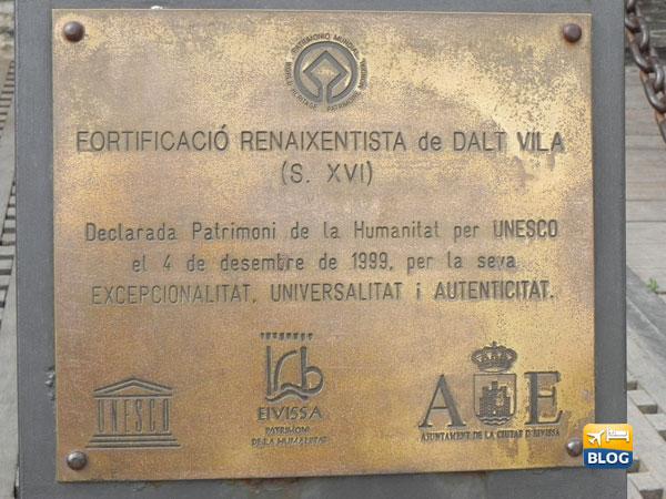 Dalt Vila Targa Unesco