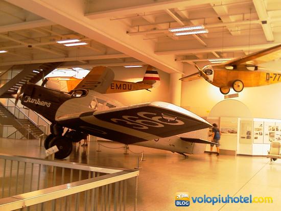 Aree espositive interne aerei Deutsches Museum