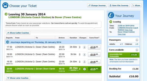 Dover londra biglietto on line