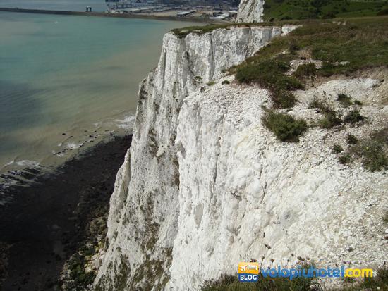 Particolare veduta delle white cliffs a Dover