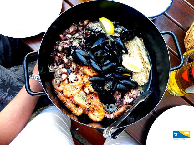 Portata di Pesce al Porto antico di Dubrovnik