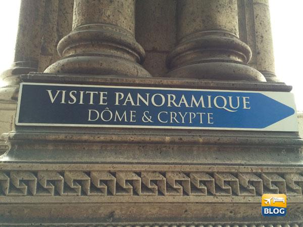 Indicazioni per il Duomo e la Cripta del Sacro Cuore a Parigi