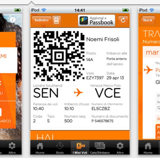 L'app di Easyjet permette di salvare biglietti per Passbook