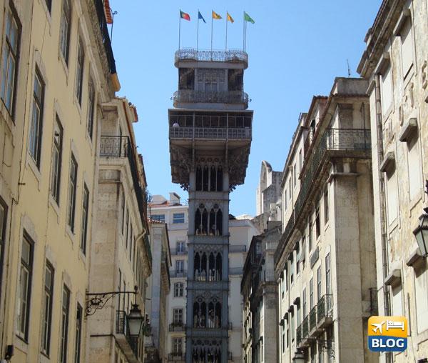 Elevador de Santa Justa a Lisbona