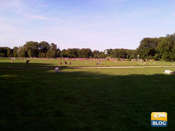 zona dei nudisti all'Englischer Garten