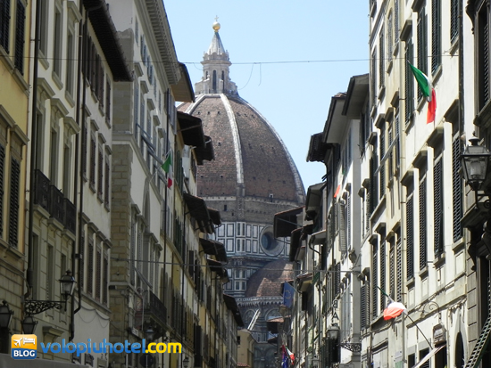 Veduta della cupola del Duomo di Firenze