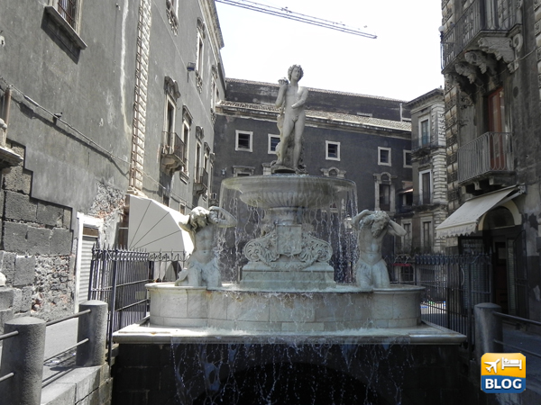 Fontana dell'Amenano a Catania