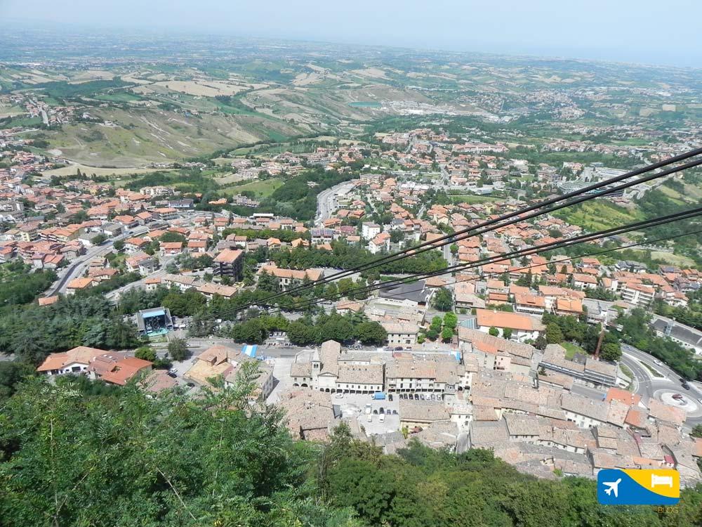 Panorama dalla Funivia di San Marino