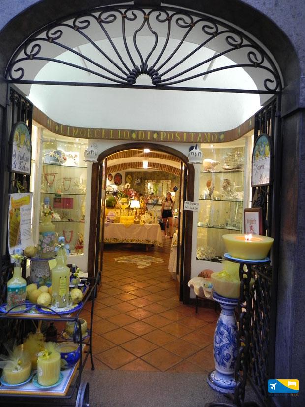 Un negozio a Positano