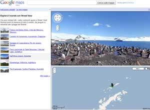Google Maps veduta Antartide