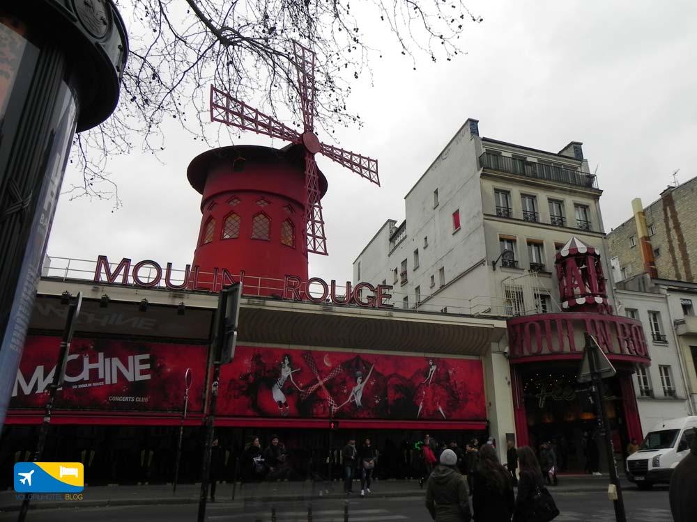 Mouling Rouge a Pigalle Parigi