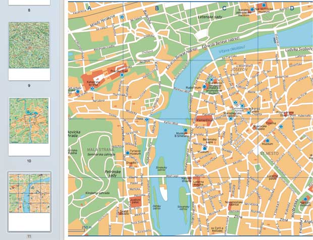 Cartina di Praga