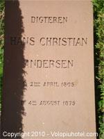 Tomba di Hans Christian Andersen
