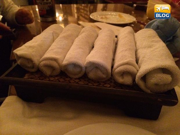 Panni bagnati al ristorante Hayashi di Pavia